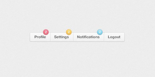 Free PSD: Menu Notification Badges