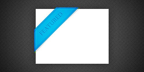 Free PSD file: Blue featured ribbon