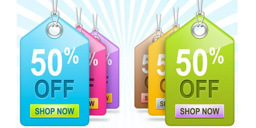 Colourful Sale Tags