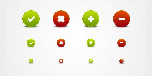 Free PSD file: Pretty round buttons