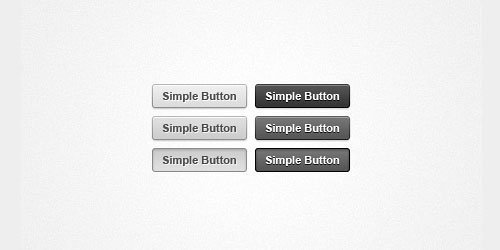 Simple web button psd