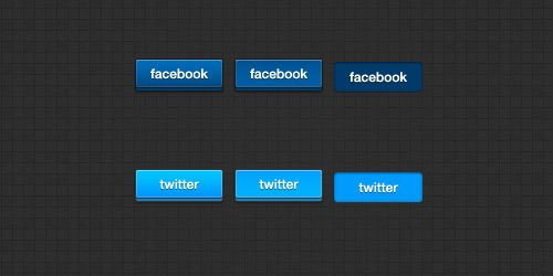 3D Social Buttons by Daniel Paul