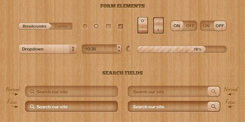 Got Wood? UI Design Elements