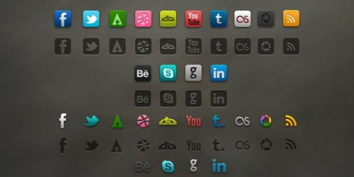 Socialis Social Media Icons