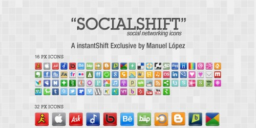 """SocialShift"" Icon Set: 246 Free Social Networking Icons"