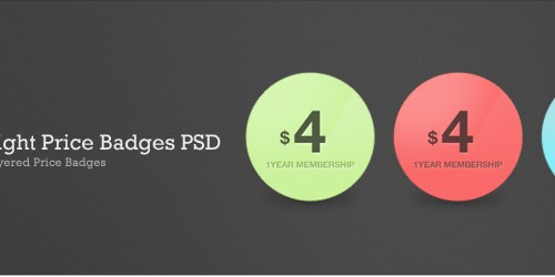 Bright Price Badges PSD