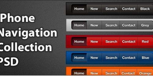 iPhone Navigation Collection Psd