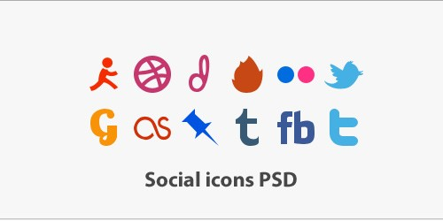 Unique Social Icons PSD