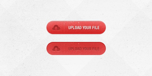 Red Upload Button (PSD)