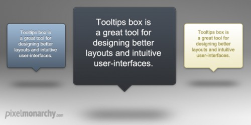 Tooltip Popup Boxes 8211; Free PSD Template