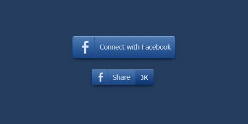 Download free facebook connect share vector shape buttons