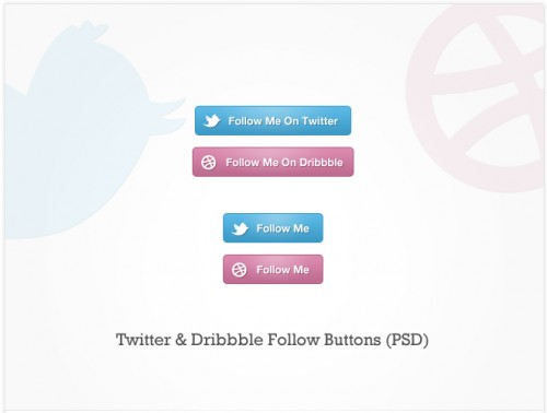 Twitter  Dribbble Follow Buttons