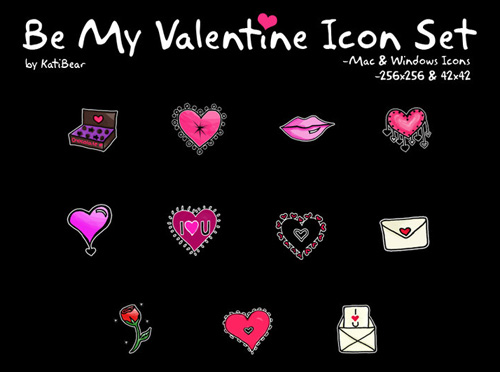 Be My Valentine Comp Icon Set