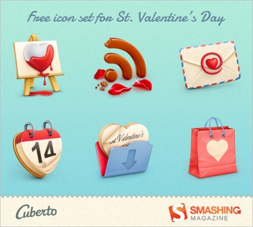 St Valentine's Day Icon Set