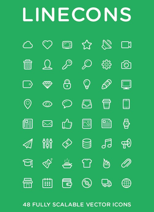linecons icon set posted may 16 2013 by admin filed under generic icon
