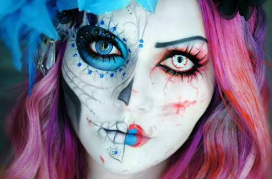 Creative Halloween Makeup Ideas favbulous - Blue Halloween Makeup