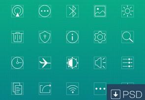 20-line-icons-psd