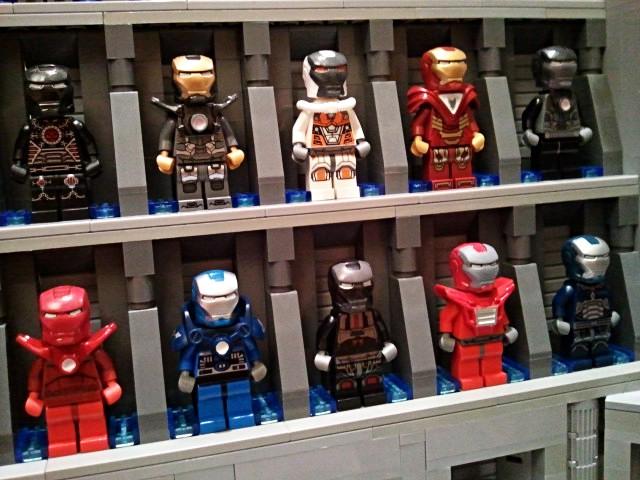 Impressive Lego Iron Man Hall Of Armor | favbulous Lego Iron Man 3 Suits