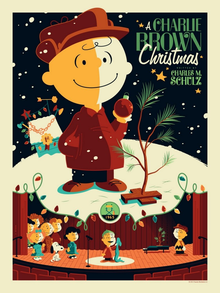 "Peanuts-""A-Charlie-Brown-Christmas""-Standard-Edition-Screen-Print-by-Tom-Whalen-768x1024"