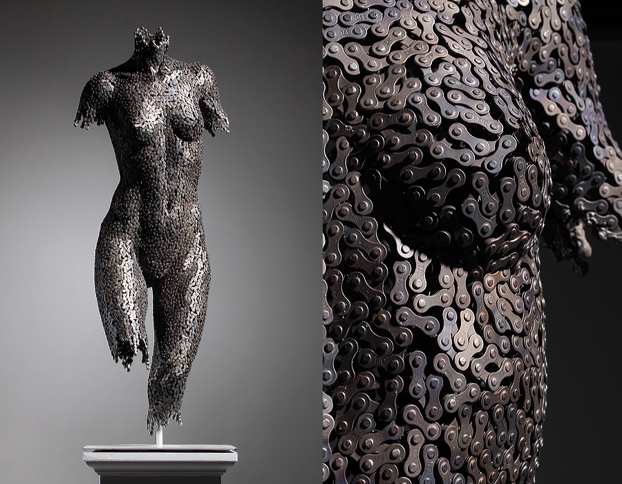 Remarkable sculptures made from bicycle chains : favbulous