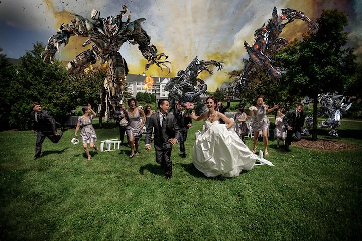 Transformersattackwedding