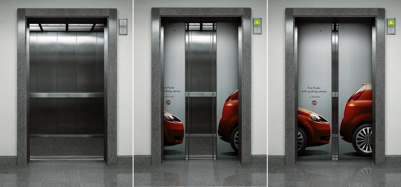 clever and creative elevator ads favbulous. Black Bedroom Furniture Sets. Home Design Ideas