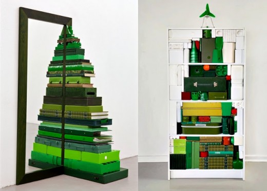 Alternative Christmas Tree Designs Made With Book