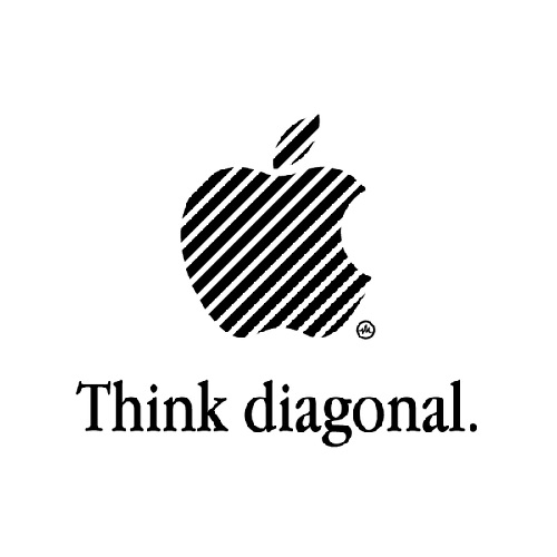 Think diagonal