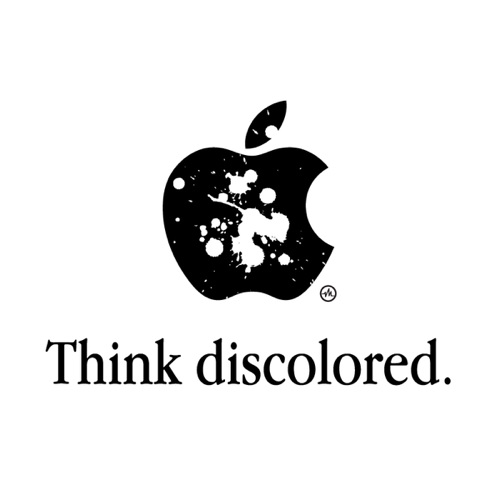 Think discolored