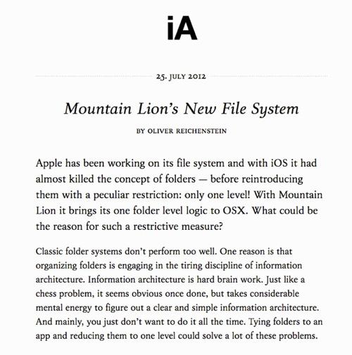 iA Blog