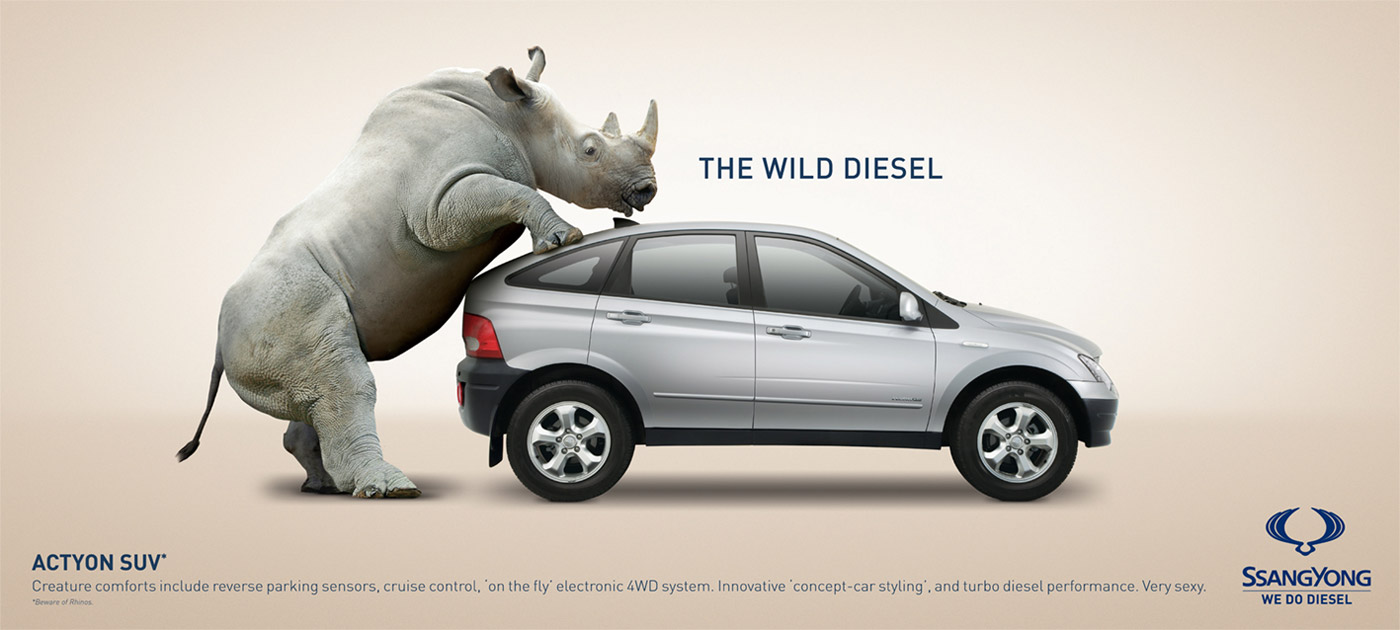 46 Stunningly Creative Car Ads Favbulous