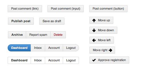 CSS3 Github Buttons