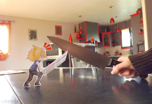 Anime Characters Paper Cutout in Real Life
