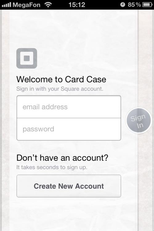 Square Card Case
