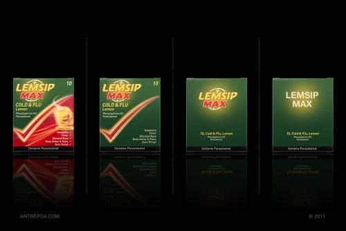 Minimal Product Design - Lemsip Max