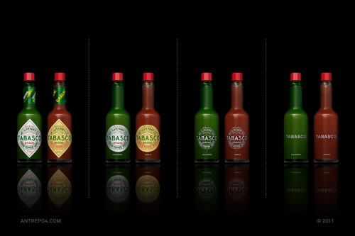 Minimal Product Design - Tabasco