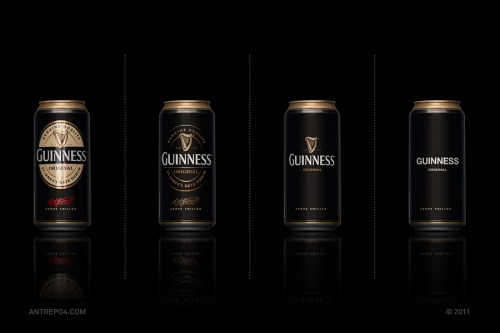 Minimal Product Design - Guinness