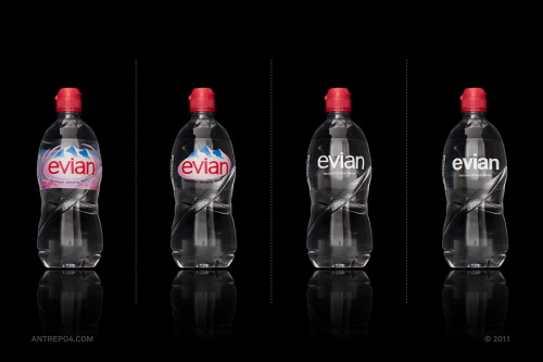 Minimal Product Design - evian
