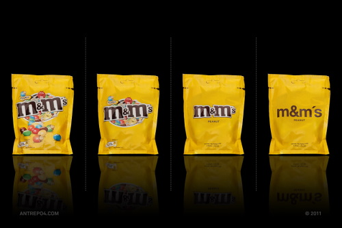 Minimal Product Design - m&m's