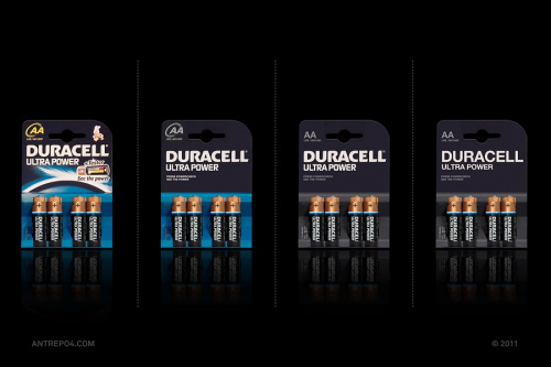 Minimal Product Design - Duracell