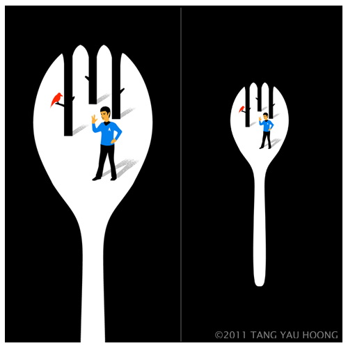 Negative space - Spock in the Spork