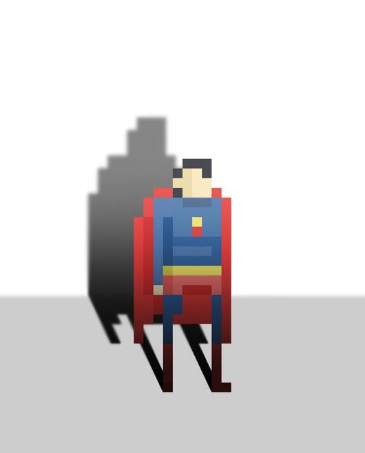 Simple And Awesome Superhero Illustration 8 Bit Pixel Art